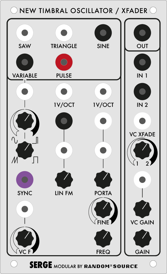 Serge New Timbral Oscillator (NTO) / XFader by Random*Source