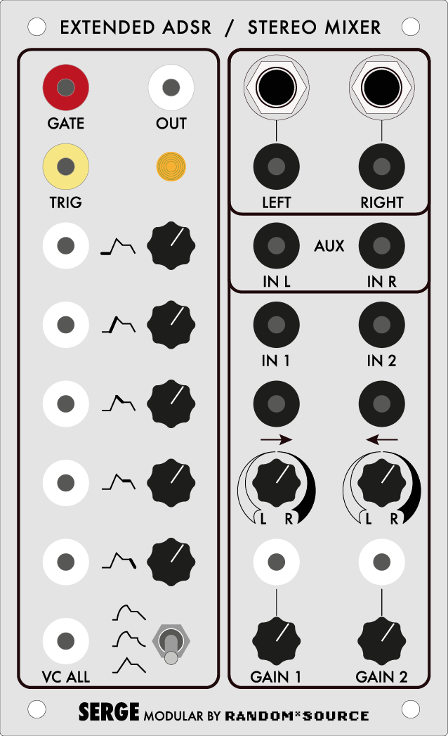 Serge Serge Extended ADSR / Stereo Mixer by Random*Source